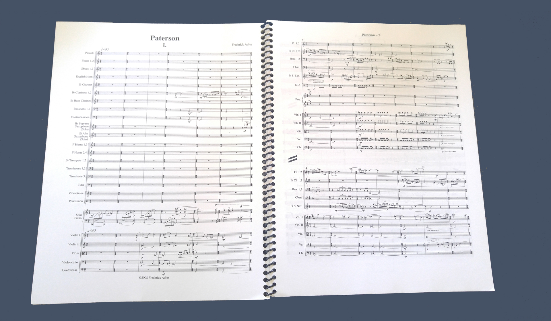 the Paterson Symphony Orchestral Work Score